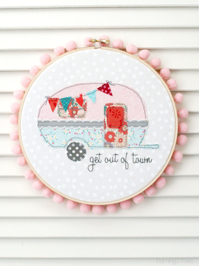 Retro Camper Hoop Art