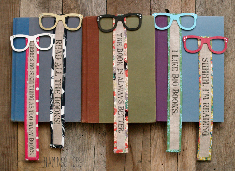 Silly Wood and Fabric Bookmarks