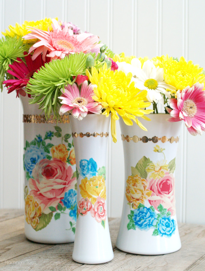 Vintage Style Flower Vases