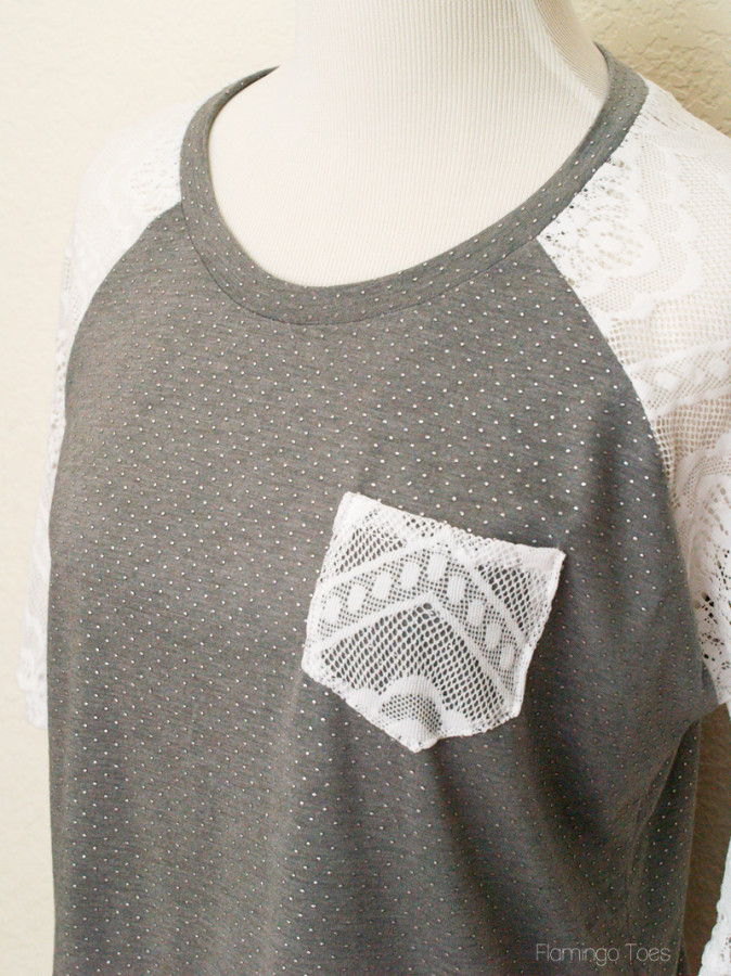 knit and lace raglan top