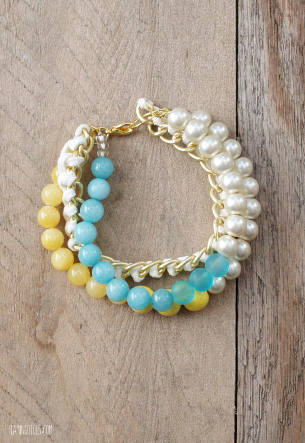 Bead & Chain Bracelet DIY