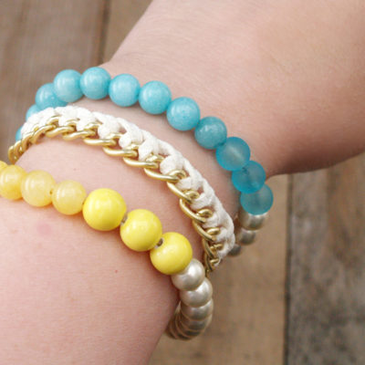 DIY Anthro Inspired Lime Blossom Bracelet