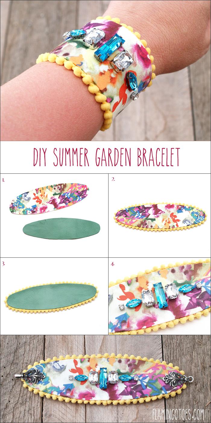 DIY Summer Garden Bracelet
