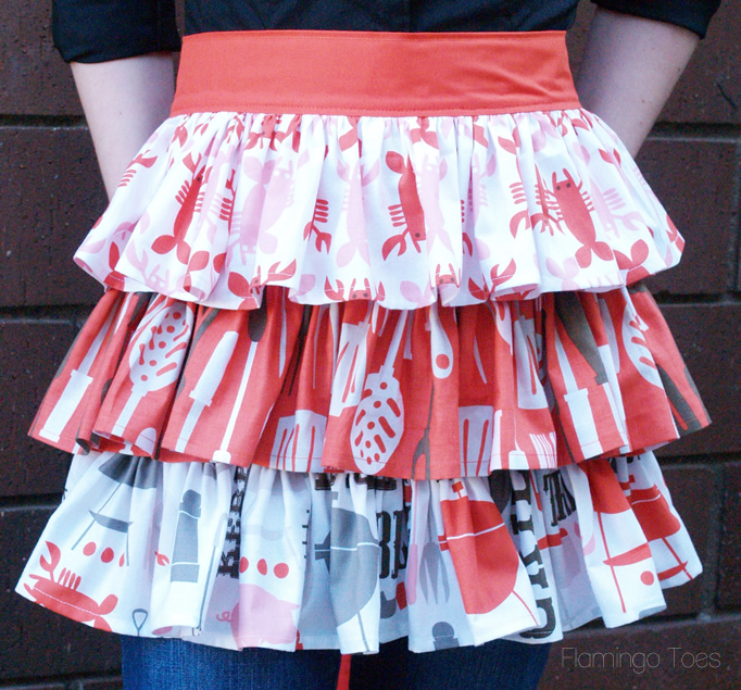 Easy Ruffled Half Apron