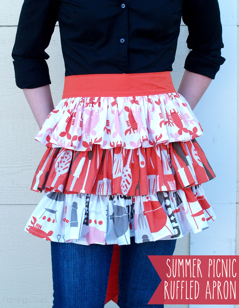 Easy Summer Picnic Ruffled Apron