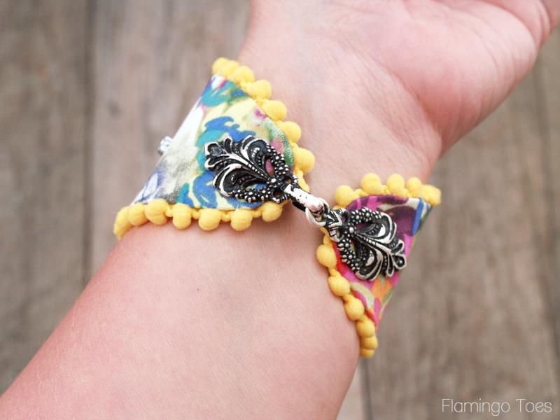 Inside of Floral Bracelet