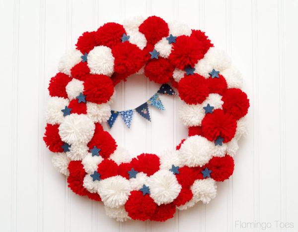 July-4th-Pom-Pom-Wreath