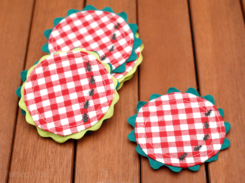 Easy DIY Gingham Summer Picnic Coasters