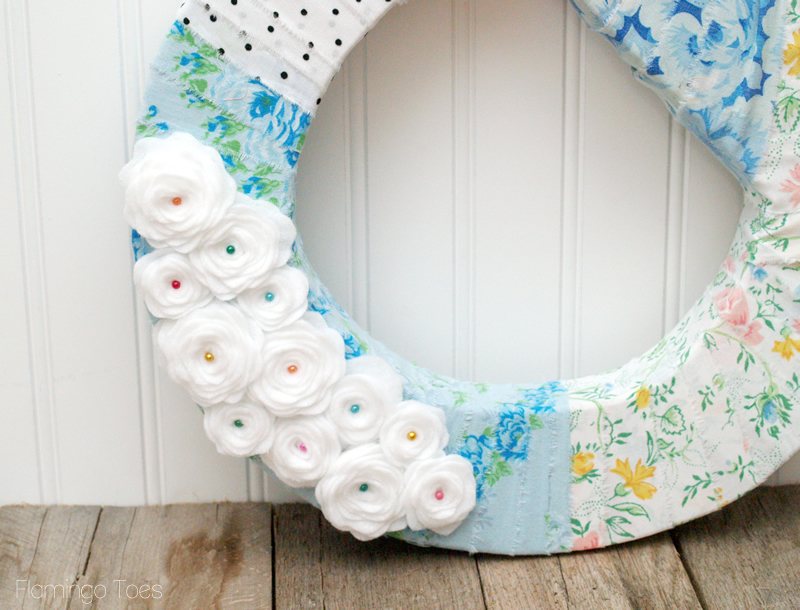 Pretty Rolled Felt Flowers