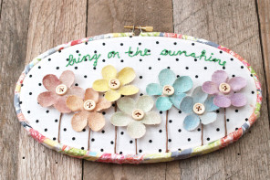Bring on the Sunshine Summer Floral Hoop Art