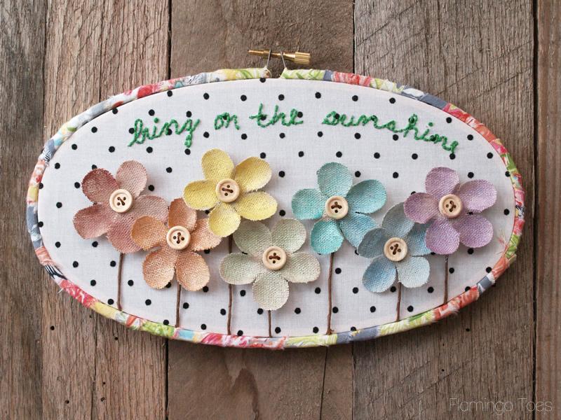 Summer Embroidery Hoop ARt