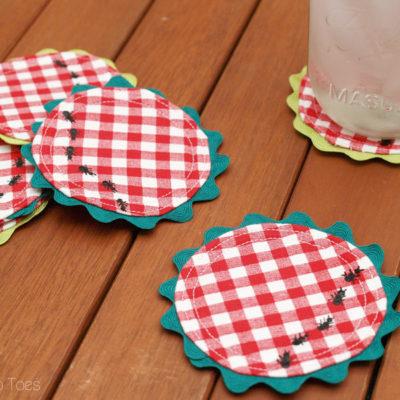Easy DIY Gingham Summer Picnic Coasters