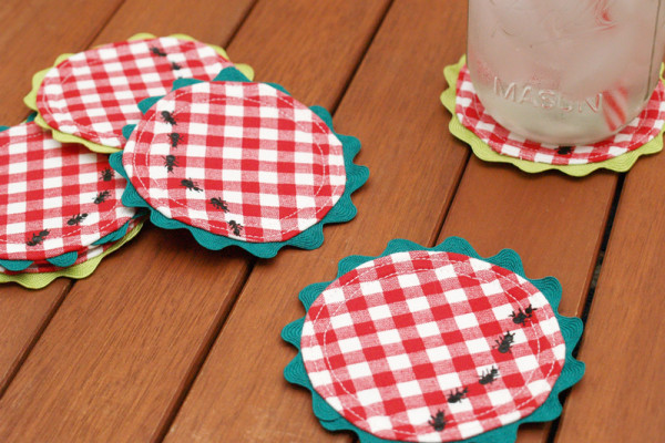Summer Picnic Coasters