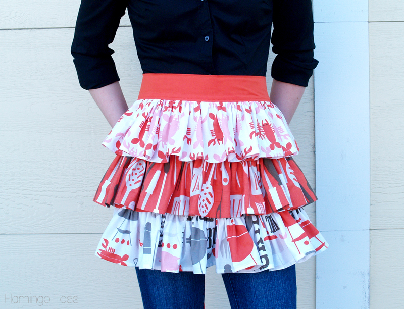 Summer Picnic Ruffled Apron