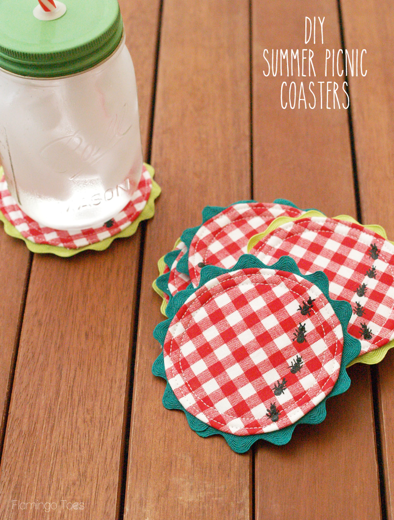 diy Summer Picnic Coasters