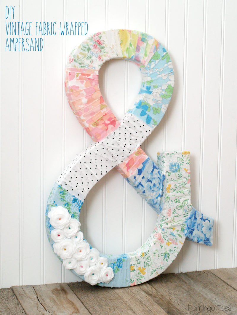 Vintage Fabric Wrapped Ampersand