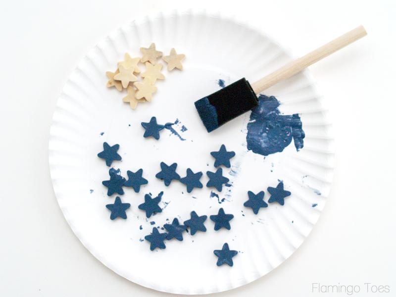 painting stars blue