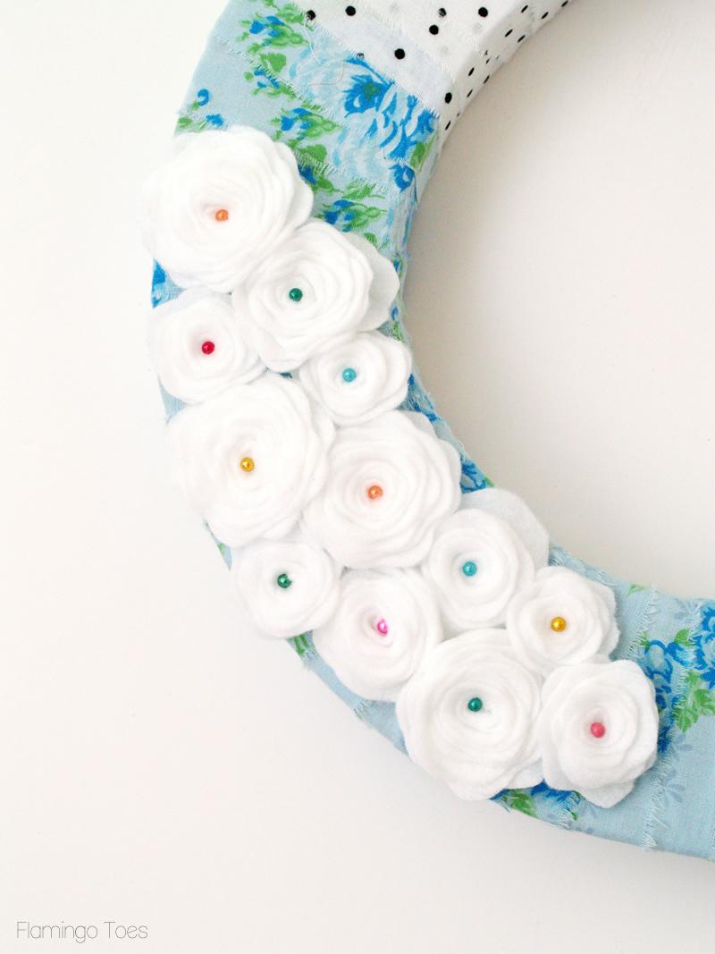 spring pearl felt flowers