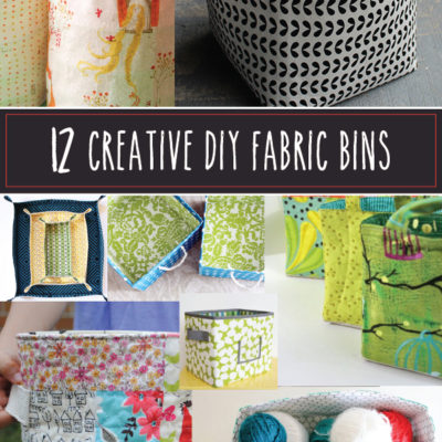 12 Creative DIY Fabric Bins