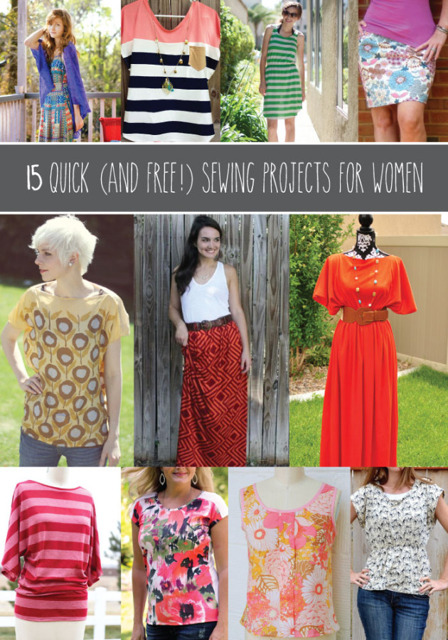 15 Quick Sewing Projects for Women