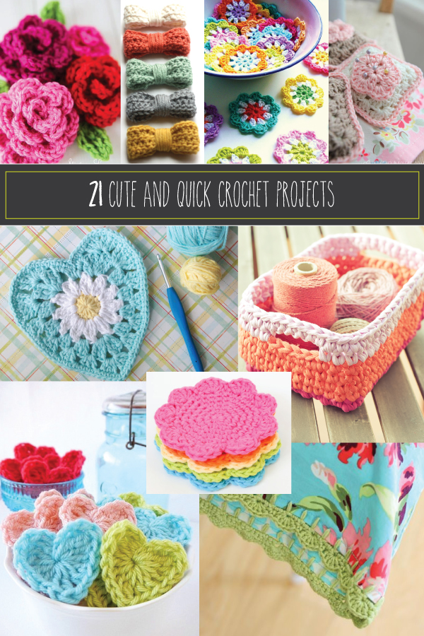 21 Cute and Quick Crochet Projects featured by top US sewing blog, Flamingo Toes