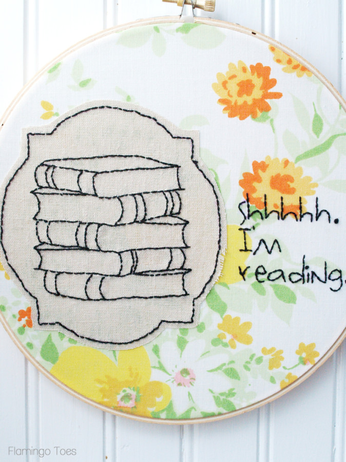 Book Lover Hoop Art