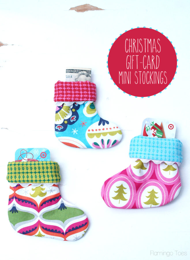 Christmas Gift Card Mini Stockings