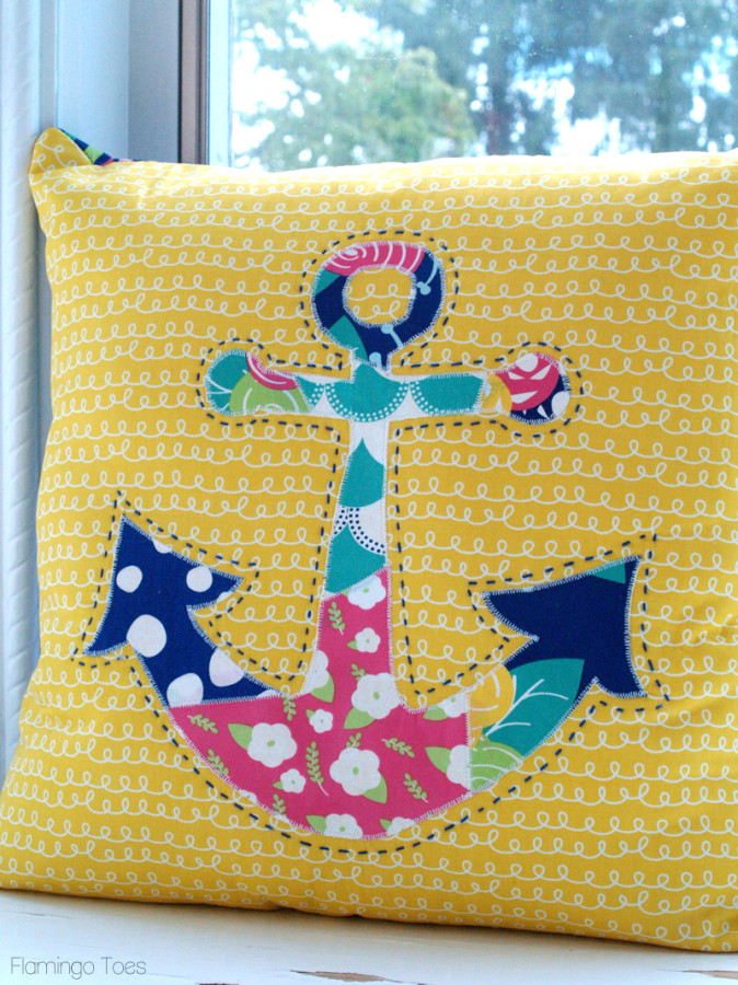 Colorful DIY Anchor Pillow