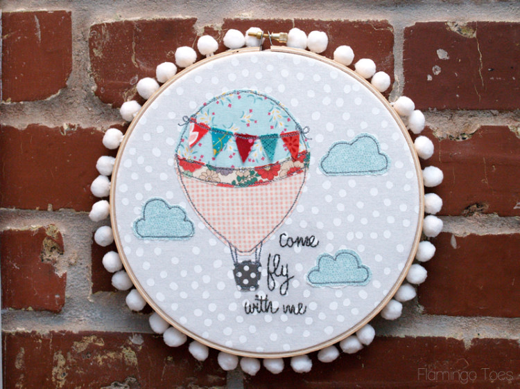Come Fly With Me Hot Air Balloon Hoop
