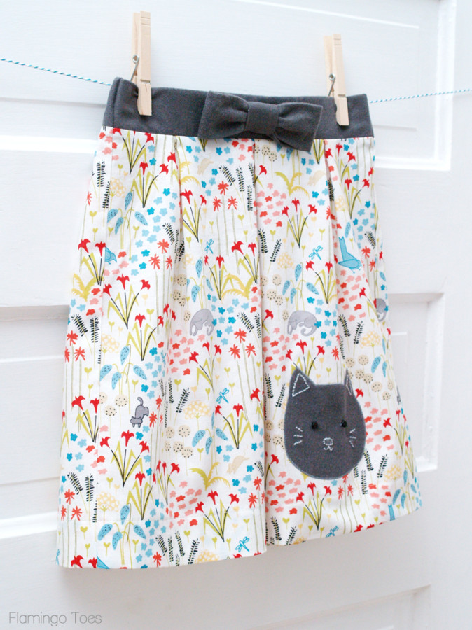 Girls Kitty Skirt