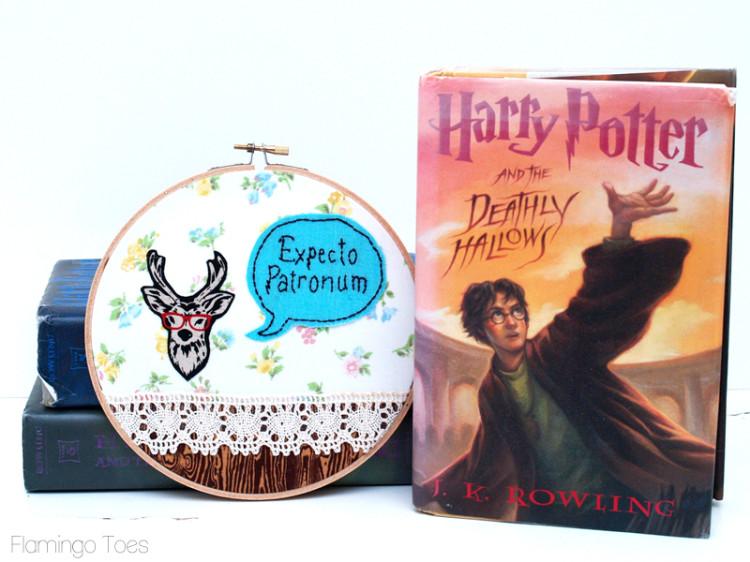 Harry Potter Patronus Embroidery