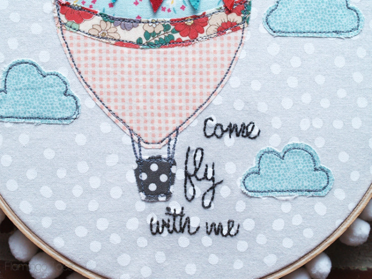 Hot Air Balloon Hoop Art Pattern
