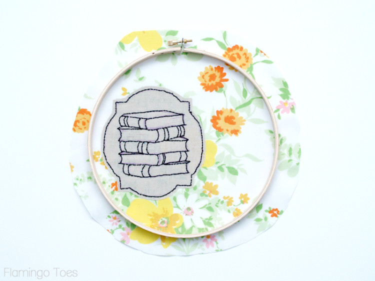 Ironing embroidery to fabric