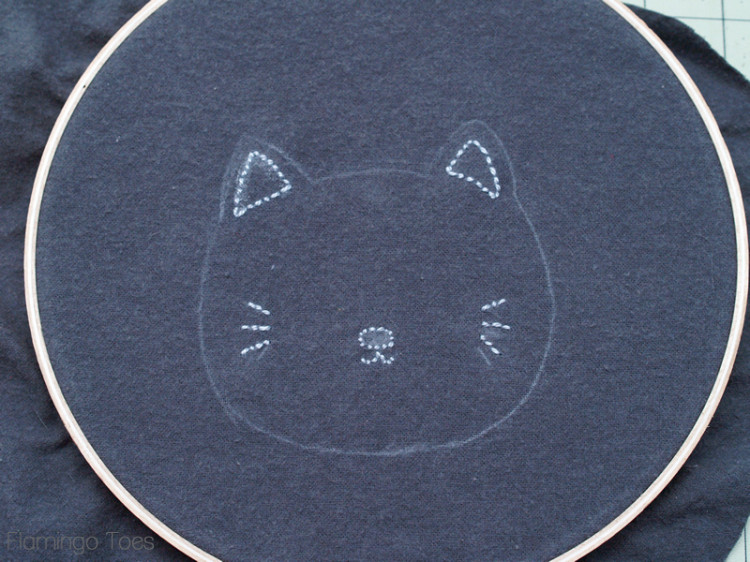 Kitten Embroidery