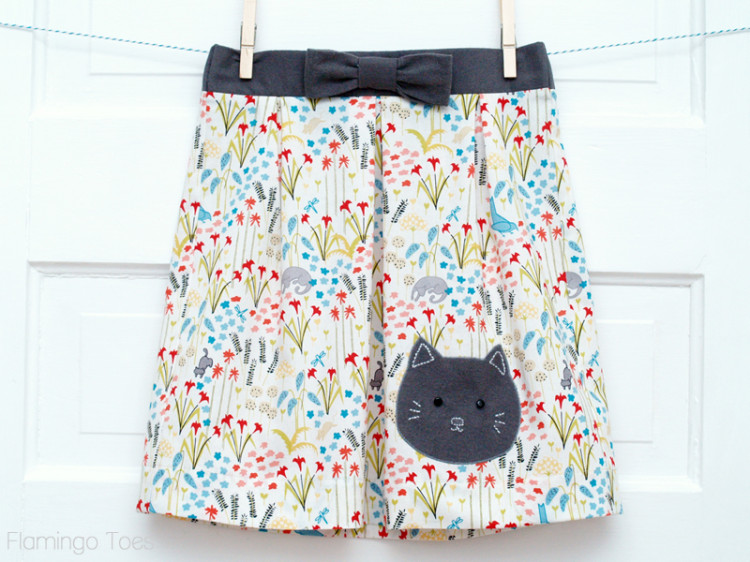 Little Girls Kitten Skirt