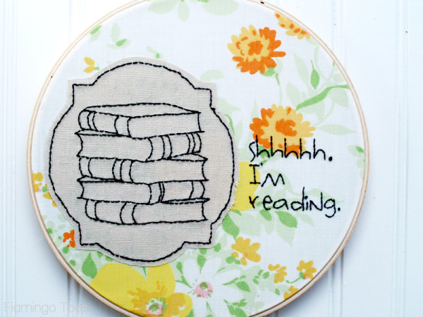 Reading Embroidery Hoop