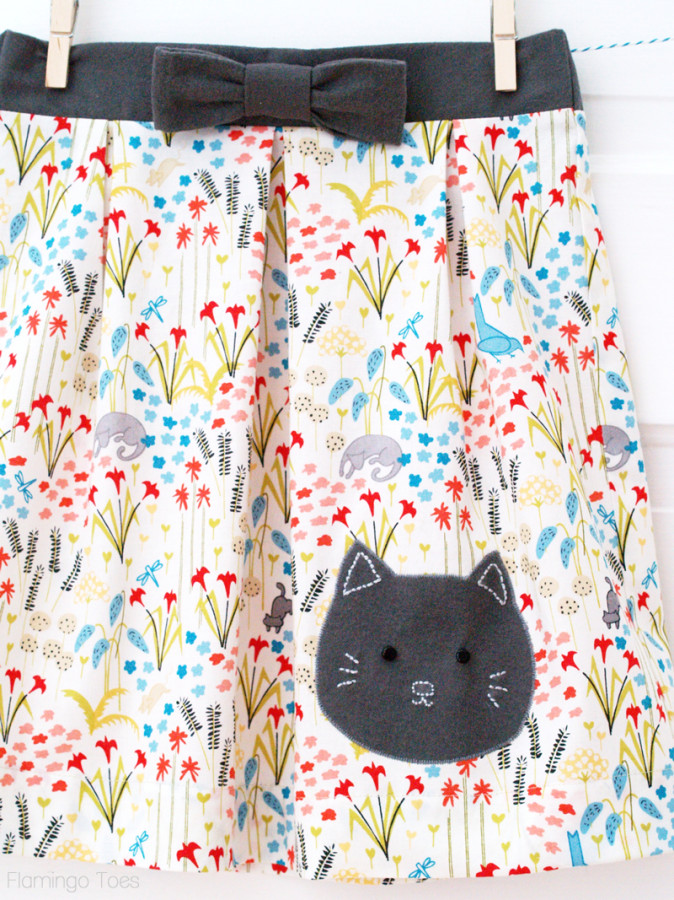 Sweet Kitty Skirt for Girls