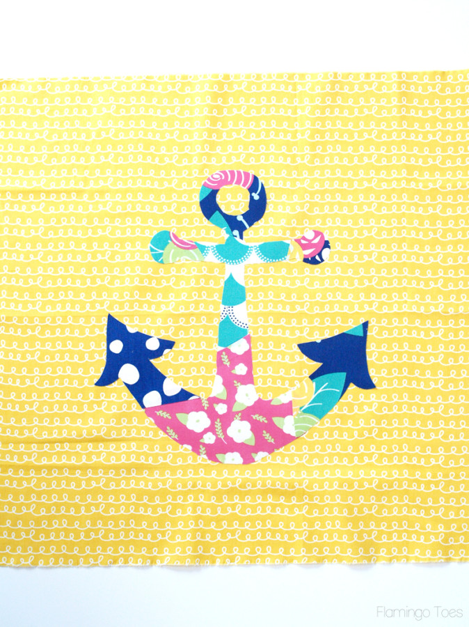 anchor fused to fabric