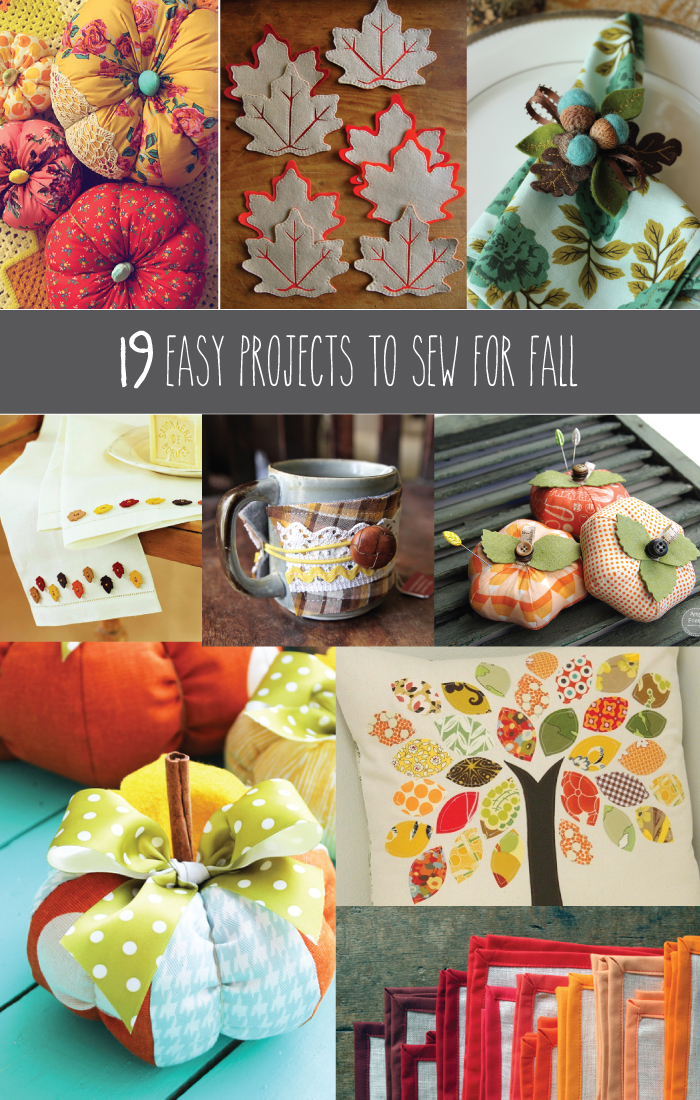 fall craft ideas 19 easy projects to sew for fall 1978