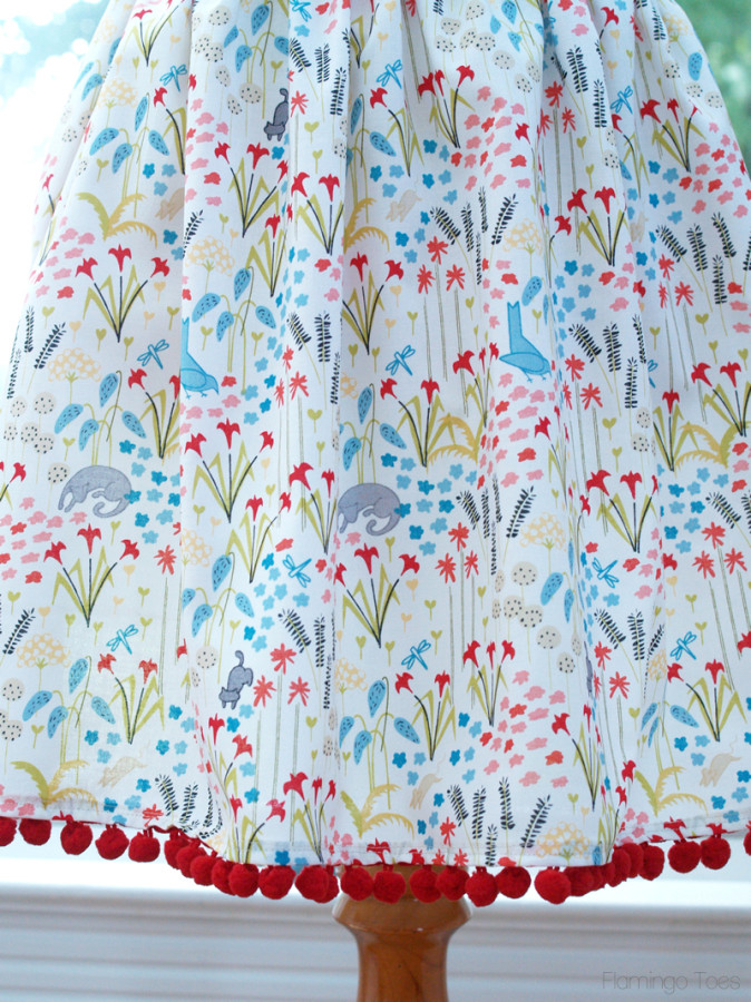 Apron with Pom Pom Trim