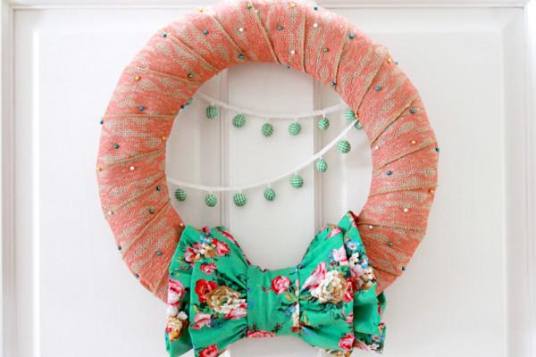 Burlap Lace and Ruffles Wreath