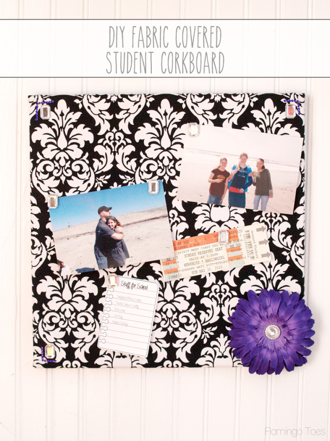 DIY Fabric Covered Corkboard