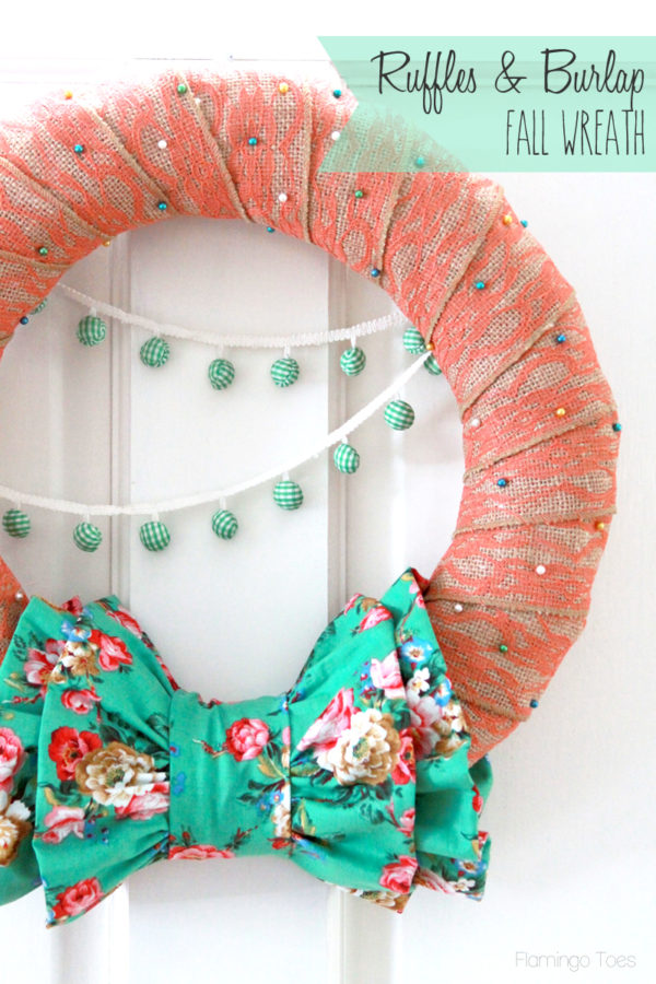 Ruffles and Burlap Fall Wreath