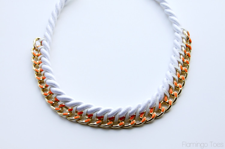chain and cording necklace