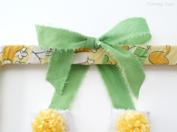 fabric bow for frame