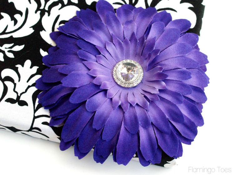purple flower decoration
