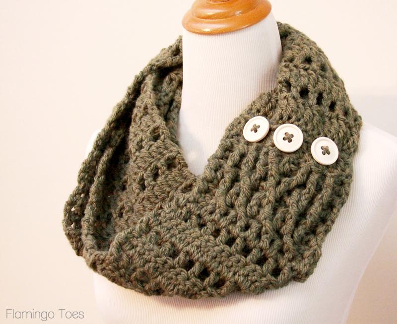 Chunky Crochet Infinity Scarf -