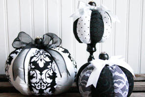 DIY Striped Fabric Pumpkins