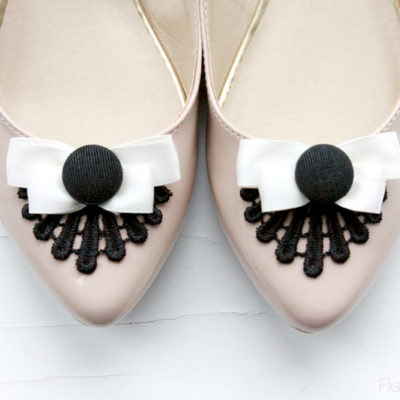 Easy Lace and Bow Flat Refashion