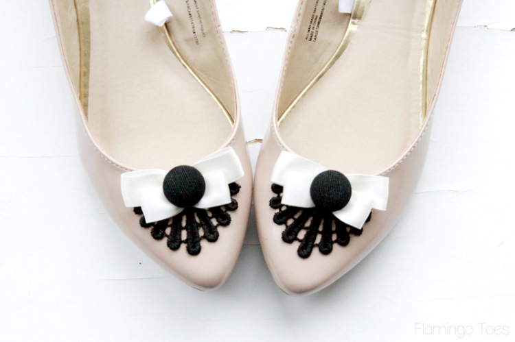Decorative Lace and Bow Flats